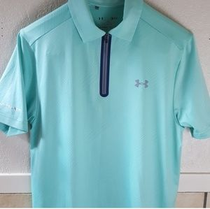 Under Armour Coldblack 1/4 zip tech polo shirt